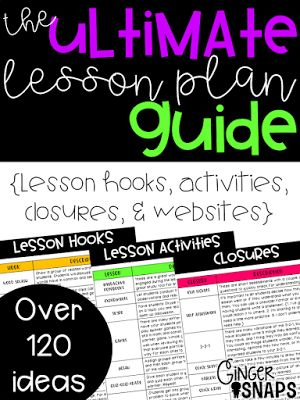Ginger Snaps: Lesson Plan Guide - This guide is filled with over 120 engaging ways to fill your lessons!