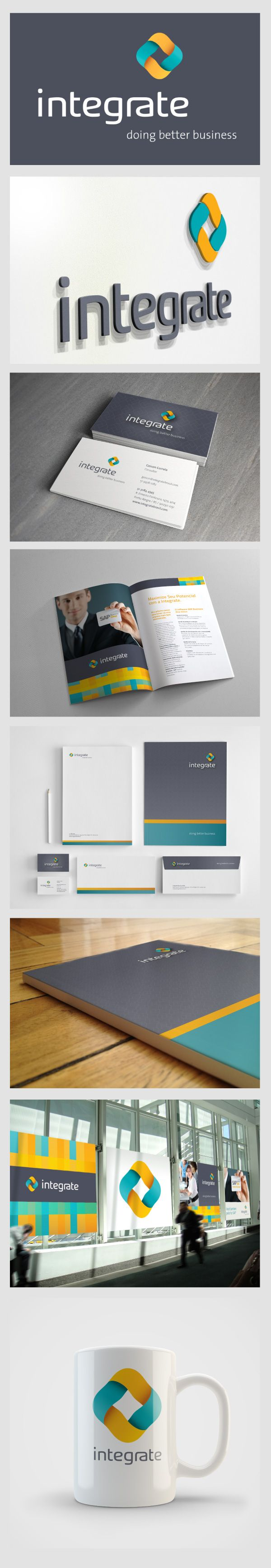integrate branding # booklet design | #stationary #corporate #design #corporatedesign #identity #branding #marketing < repinned by www.BlickeDeeler.de | Take a look at www.LogoGestaltung-Hamburg.de