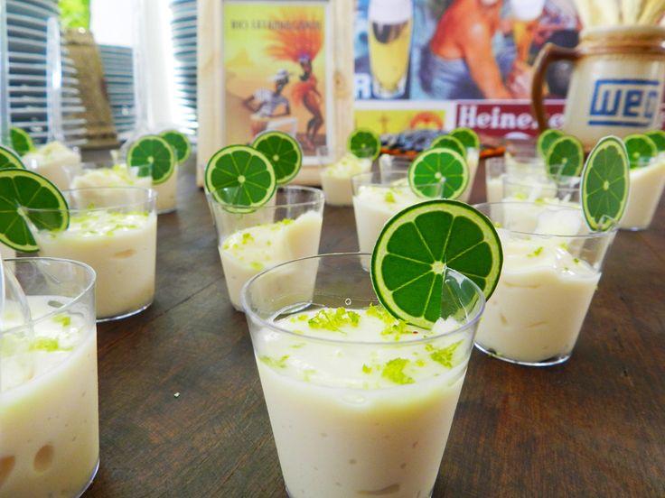 doces de limão estilo caipirinha