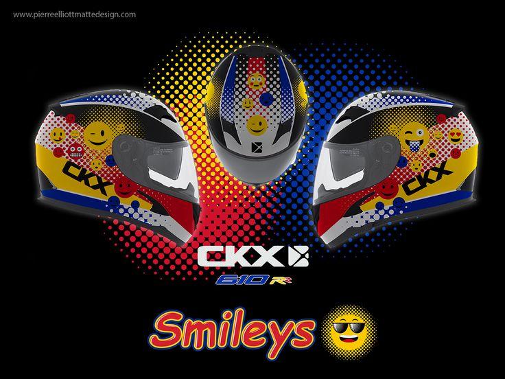 CKX RR610Y Youth Helmet / Emojis Graphic Concept