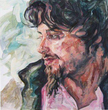 Saatchi Online Artist Andrea Araneda; Painting, Joaquín. Estudiante sociología. Punta Arenas #art