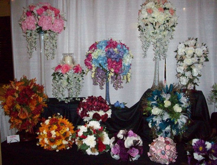 Wedding centerpieces bouquets designed by karen b a c for Michaels craft store erie pa