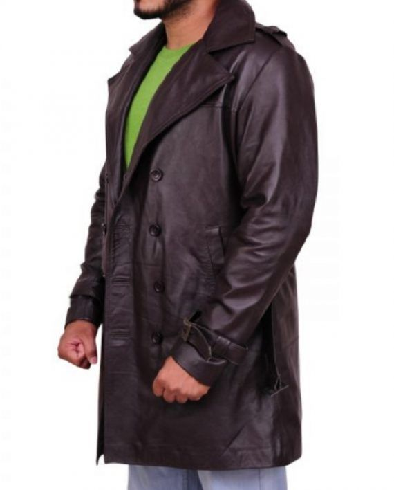 Watchmen Jackie Earle Haley Leather Coat (2)