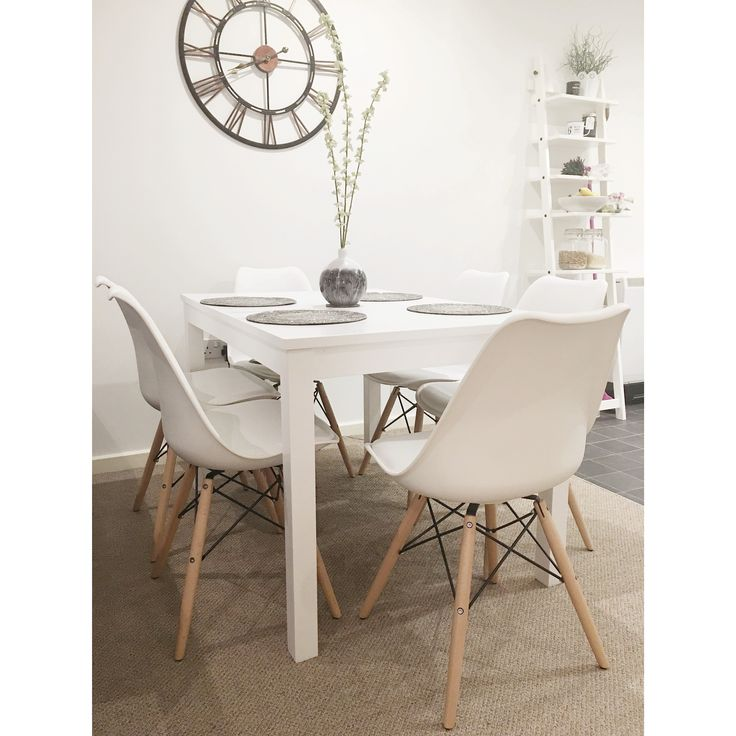 In love with our new dining table & chairs #interiors #diningroom #eameschairs #scandinavianstyle