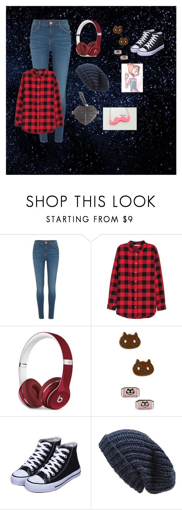 """Jaiden Smith #6"" by maya-fischbach on Polyvore featuring River Island, H&M, Beats by Dr. Dre, Cartoon Network and Phase 3"