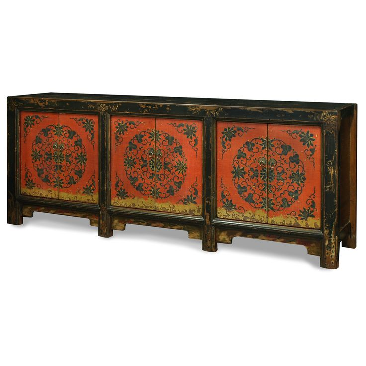 17 best images about tibetan treasures on pinterest for Hand painted oriental furniture