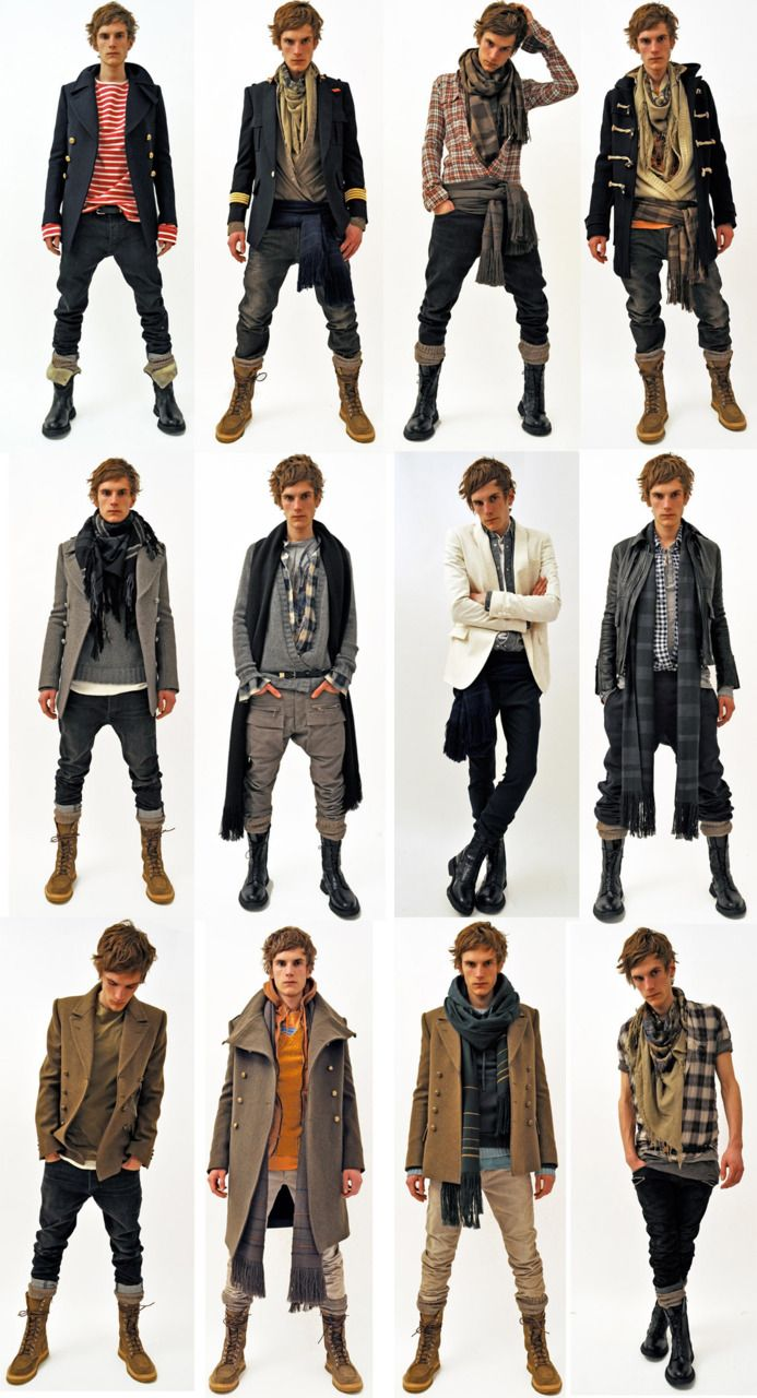 Here's a collection of outfits that will be interesting to keep in mind when drawing clothing.