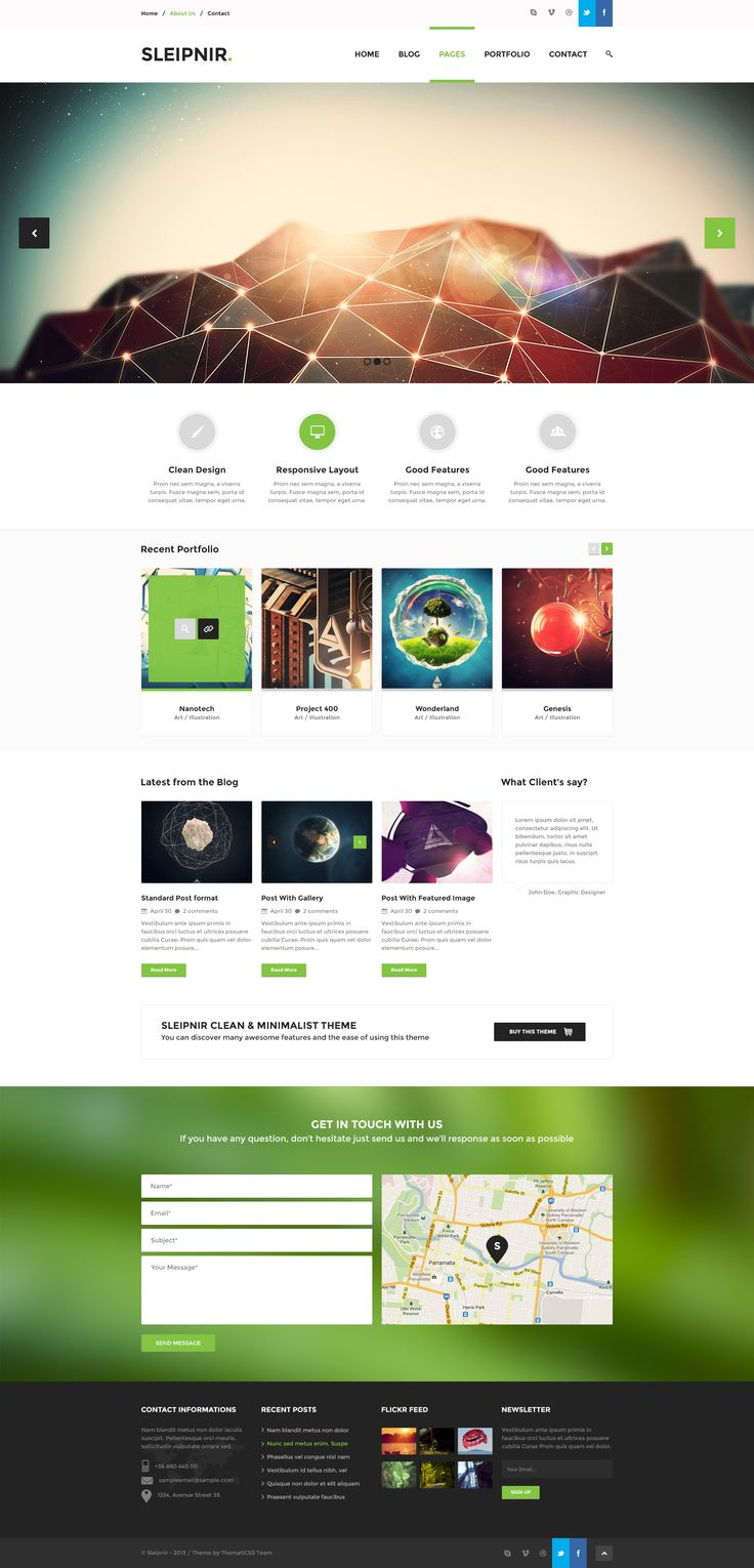 clean website design examples the