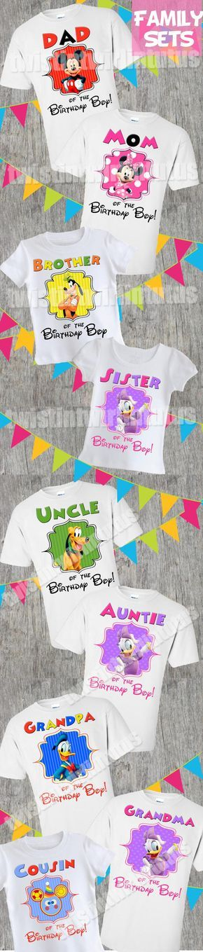 Mickey Mouse Clubhouse Family Birthday Shirts | Mickey Mouse Clubhouse Birthday Party | Minnie Mouse Birthday Party | Mickey Mouse Birthday Ideas | Mickey Mouse Clubhouse Birthday Party | Twistin Twirlin Tutus #mickeymouseclubhouesbirthday