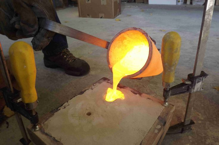 step by step instructions on how to cast metal using a sand mold