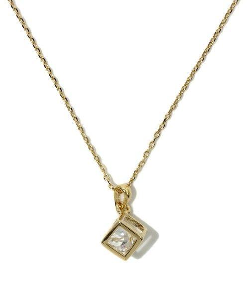 BEAMS LIGHTS(Women's)のBEAMS LIGHTS / キューブジルコニア ネックレスです。こちらの商品はBEAMS Online Shopにて通販購入可能です。