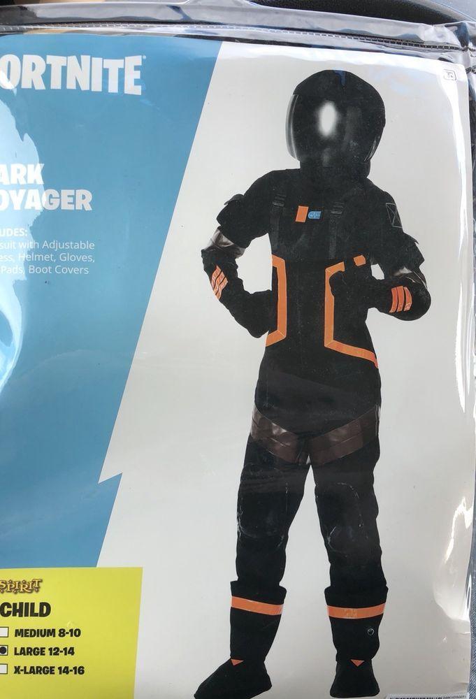 7ed1d896366  Fortnite Kids Size L 12-14 Dark Voyager Halloween Costume Youth Boys Child  Large