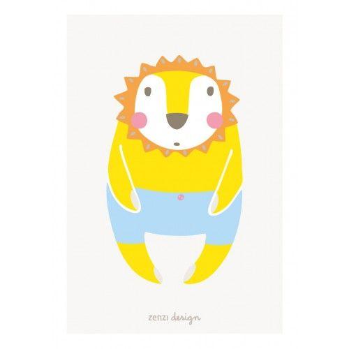 ZENZI Design mini poster Leeuw