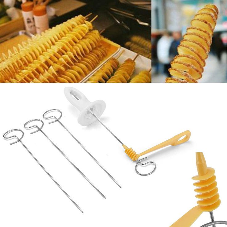 Manual  Stainless Steel Veg Fruit Potato Twisted Spiral Slicer French Fry Cutter