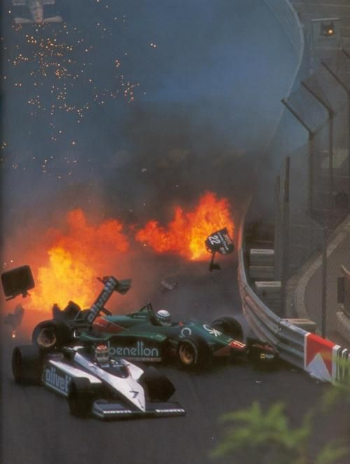 Nelson Piquet (Brabham)  Riccardo Patrese (Alfa Romeo) -1985 - Monte Carlo (Monaco)