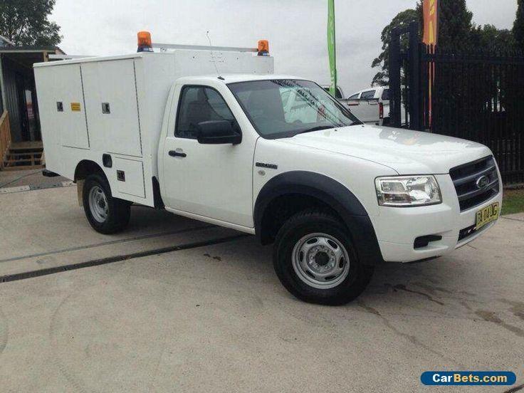 2008 Ford Ranger PJ 07 Upgrade XL (4x4) White Manual 5sp M Cab Chassis #ford #ranger #forsale #australia