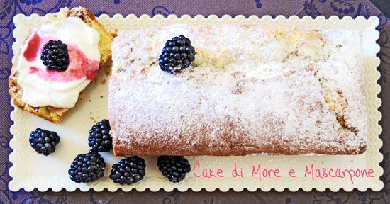 Cake di more e mascarpone