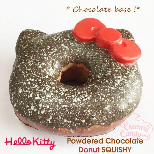 authentic licensed rare original hello kitty chocolate powdered donut squishy wholesale