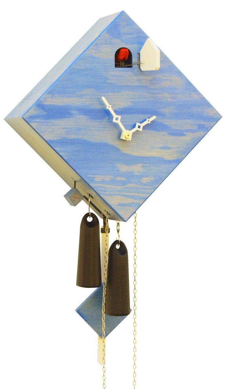 Modern Art Cuckoo Clocks Classic Cuboid Cuckoo Clock 1-day-movement Modern-Art-Style 24cm by Rombach & Haas