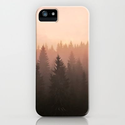 Morning in Pine Tree Forest in the Mountains iPhone & iPod Case by Zeppelin - $35.00