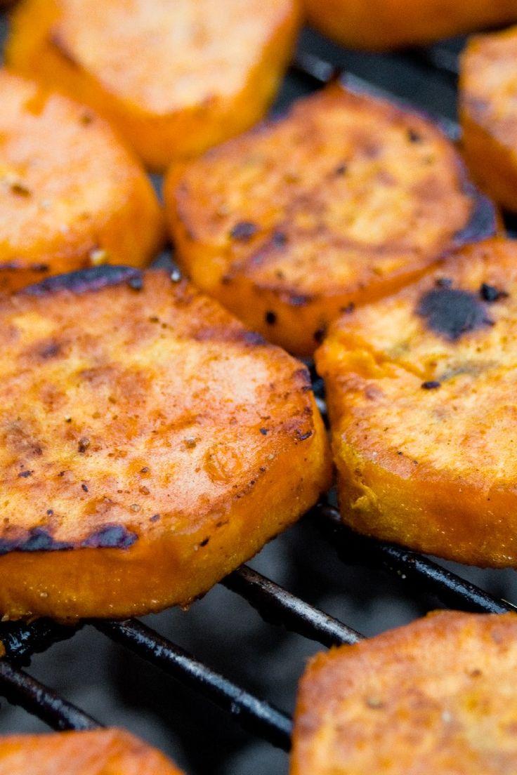 Crispy Grilled Sweet Potatoes (Weight Watchers)