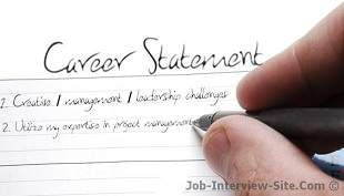 Career Statement: Examples of Career Objectives & Goals Statement