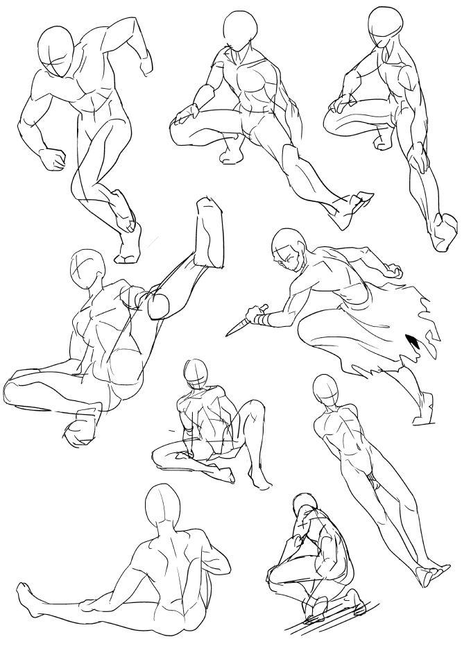 【人の描き方の勉強テクニック】人体を描くのが苦手なやつが練習絵をアップするスレ 萌えイラスト上達法! お絵かき初心者の学習部屋