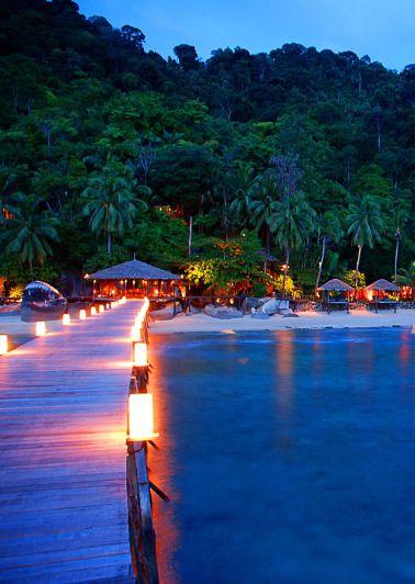 Hotel on Tioman Island, Malaysia