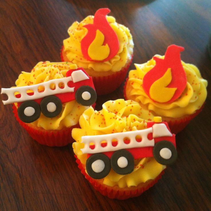 Firefighter cupcakes #ZoeBakes