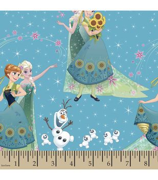 Disney® Frozen Sisters and Olaf Cotton Fabric