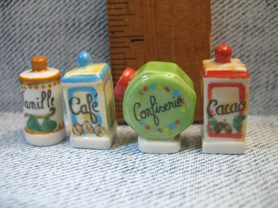 Vintage Style Kitchen Containers French Feve by ValueARTifacts