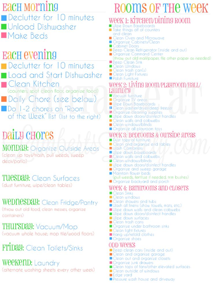 Great tips for making your home look professionally cleaned... free printable cleaning schedule available! Perfect for a working mom or stay at home mom.