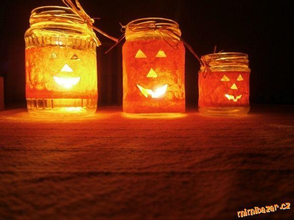 podzimní dekorace svícen dýně
