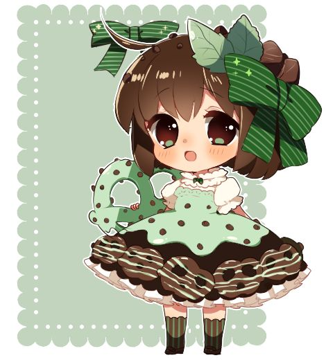 UPDATE::added BG ;v; actually the lace is from my adopts! XD;;;to lazy to make a new one Based off of these goodies! TvT//////people voted on the poll, so I randomly picked mint pretzel...