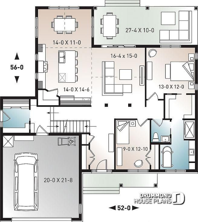 Discover The Plan 3246 V2 Jennifer Which Will Please You For Its 2 Bedrooms And For Its Country Styles House Plans How To Plan Drummond House Plans