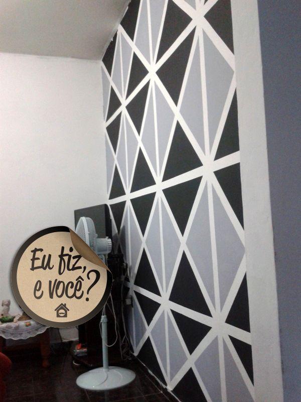 """Pintura """"papel de parede"""". Homens da Casa Mais"""