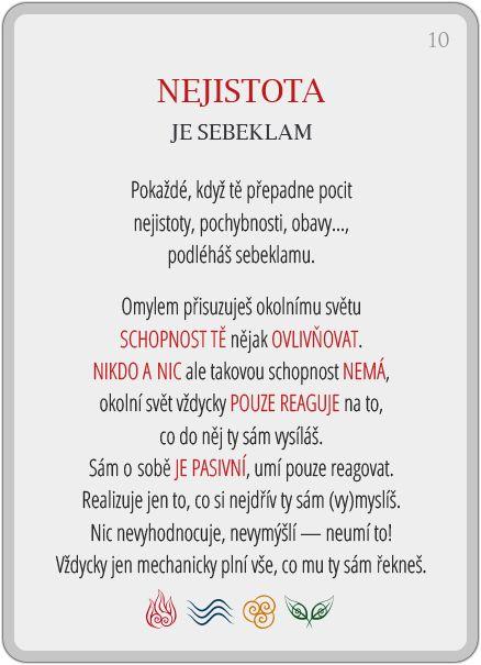 Portál pro osobní rozvoj změnou podvědomí a vlastní přitažlivosti: Člověče, poznej se — 10/24: Nejistota