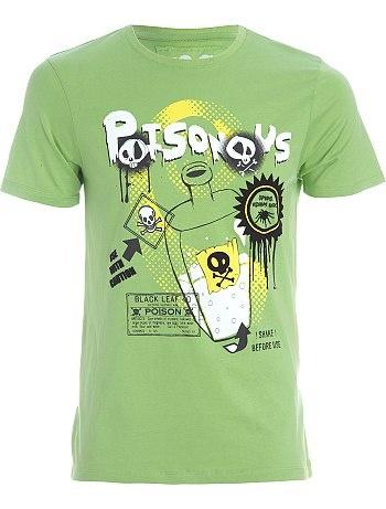 Tee-shirt print 'poison' pour Kiabi Homme, printemps été 2013