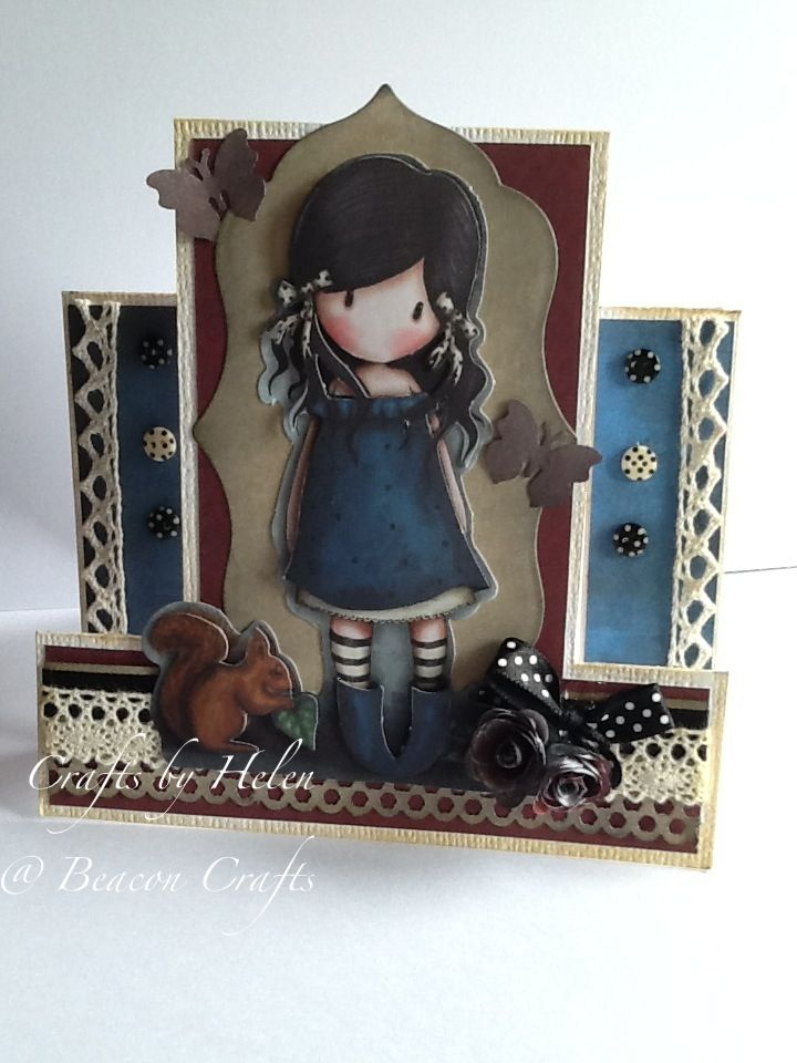 "Stepper card using the docrafts ""Gorjuss"" range."