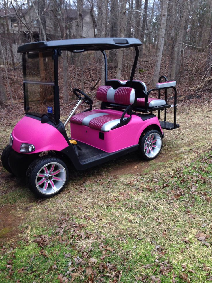 Custom golf cart ezgo rxv pinked out for my little girl