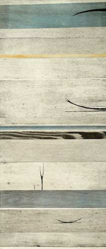 Simon Kaan, <i>2014 Untitled Large Scroll #25</i>, intaglio woodcut on 810 x 350 mm paper, 1 of 1, 2014. Sold.
