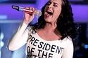 Katy Perry's White Latex Obama Dress!