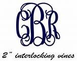 Interlocking Vine Monogram Font Free Download