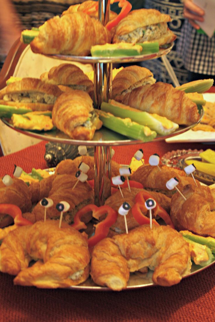 crab sandwich croissant sandwich baby shower foods baby shower ideas