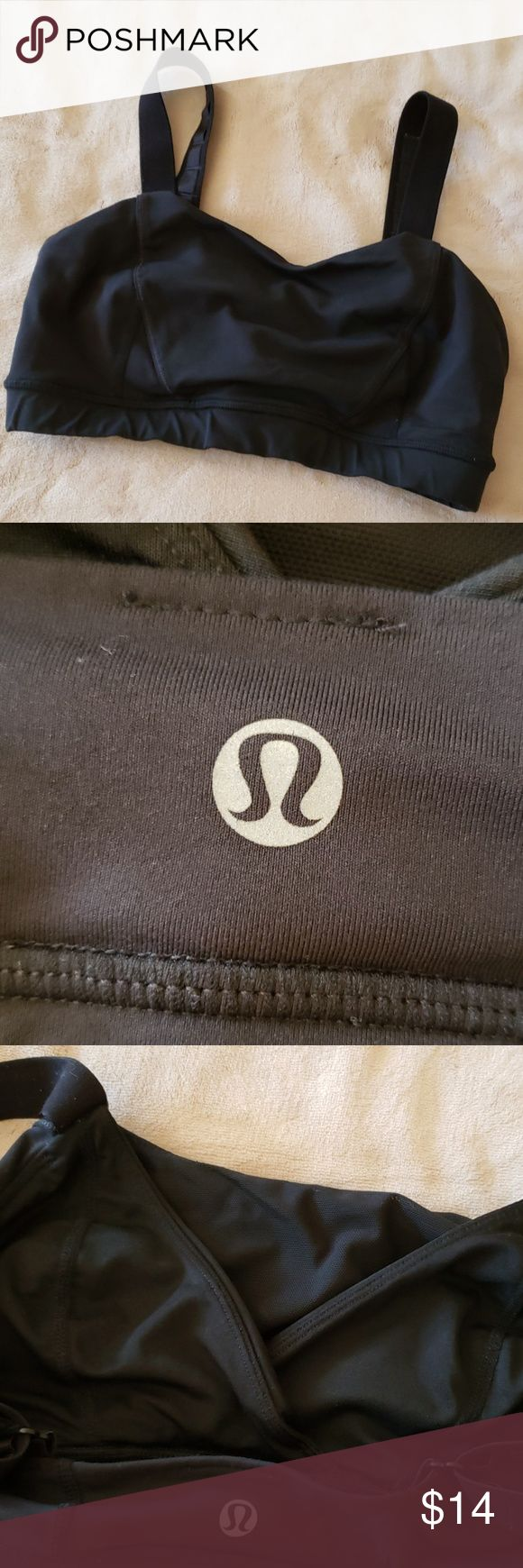 Lululemon 6 adjust me bra black Lululemon Size 6 dot gone but I assure u it's a 6 Selling all my size 6 since had a breast reduction and these work better for bustier gals. Priced low because size dot fell off and some pilling to straps only see close up. Normal for use lululemon athletica Intimates & Sleepwear Bras