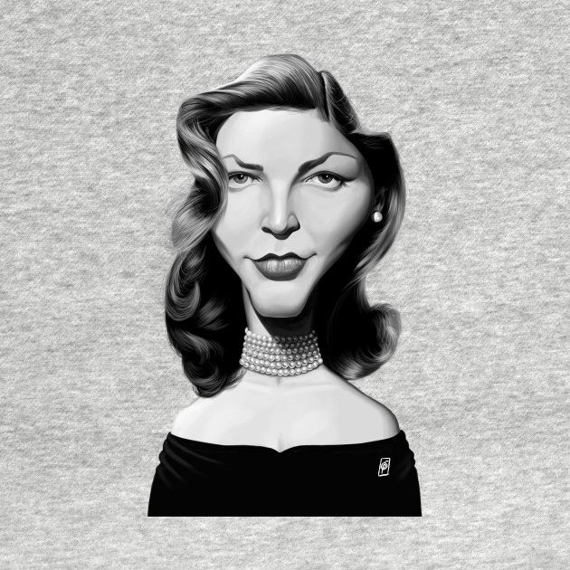 Check out this awesome 'Lauren+Bacall' design on @TeePublic! art | decor | wall art | inspiration | caricature | home decor | idea | humor | gifts