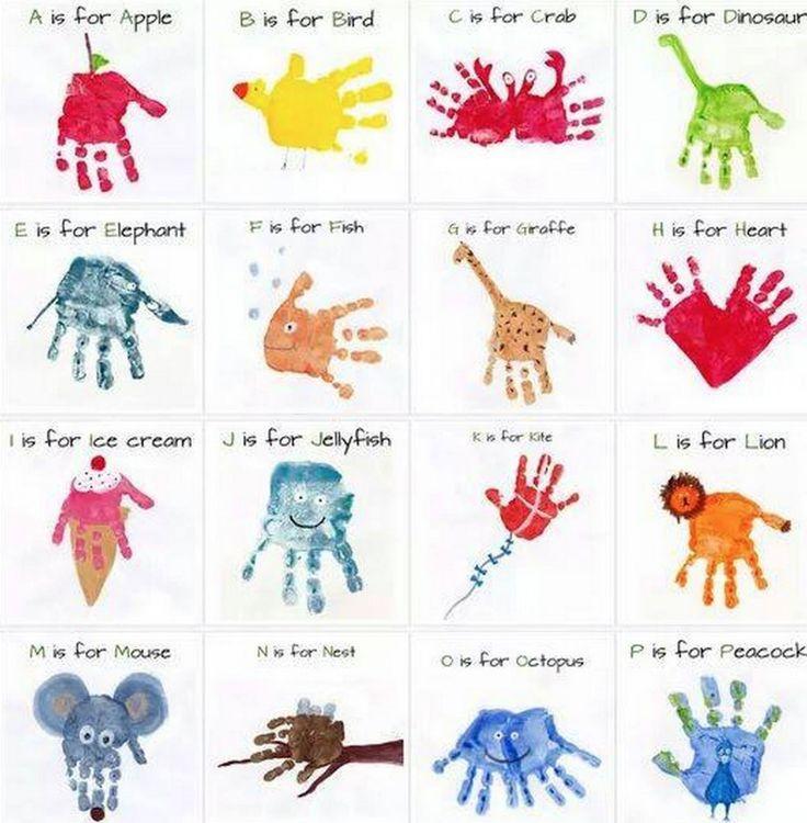 Handprint Alphabet Art The WHOot