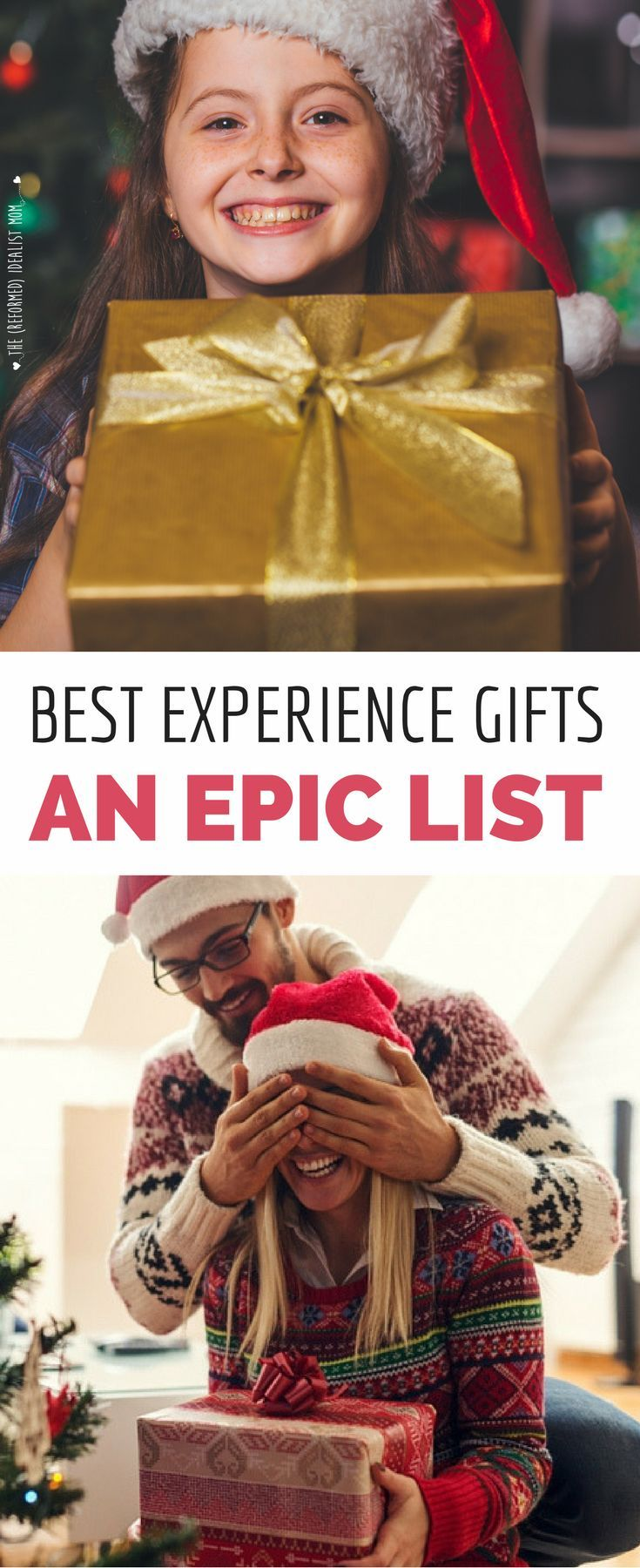 These presents will make you everyone's favorite person! This is a MASSIVE list of the best experience gift ideas for everyone on your Christmas list, from gift ideas for kids to gifts for him - and lots more. Great ideas for birthdays and anniversary gifts, too! via @Kelly {IdealistMom.com}