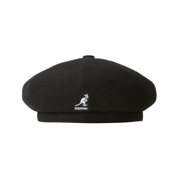 Kangol Wool Jax Beret ($60) ❤ liked on Polyvore featuring accessories, hats, black, kangol, kangol hats, wool berets, kangol beret and beret hats