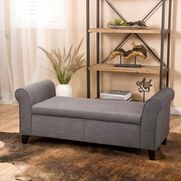 Use the durable Christopher Knight Home Torino ottoman as a wide extra seating option as the plush design and padded arms make it a comfortable place to relax. Constructed with a solid wood frame for
